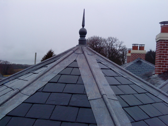 Lead detail on a roof