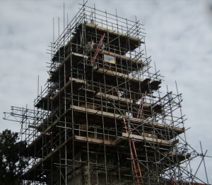 Caption about scaffolding