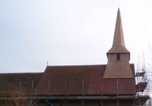 Fildes Roofing won an industry award for the shingling works on St Andrew's Church, Tangmere in 20xx
